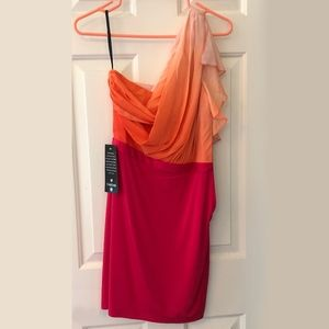 NEW! Bebe Ombré Side Ruched Dress Real Housewives